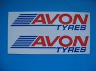 AVON TYRES modern racing rally car sticker/ decal x2